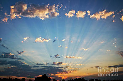 Photograph - Sunrise Rays by Jim And Emily Bush