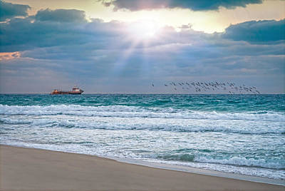 Photograph - Sunrise Rays On The Coast by Lynn Bauer