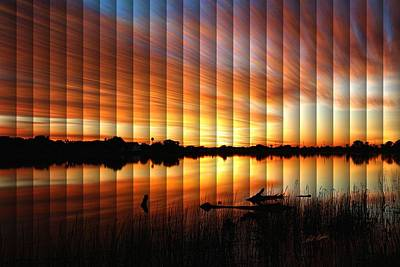 Photograph - Sunrise Reflected - The Slat Collection by Bill Kesler