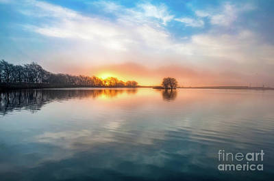 Photograph - Sunrise Reflection by Mariusz Talarek