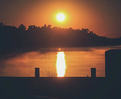 Photograph - Sunrise Reflection On The Dock by Dan Sproul