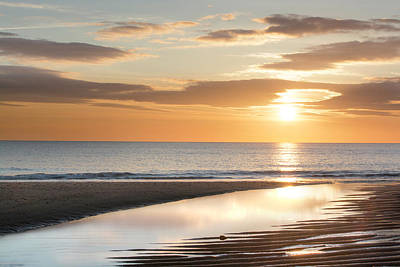 Photograph - Sunrise Reflections At Aberdeen Beach by Veli Bariskan