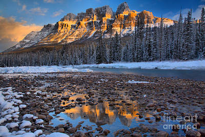 Photograph - Sunrise Reflections In The Bow River by Adam Jewell