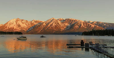 Photograph - Sunrise Reflections On Colter Bay by Dan Sproul