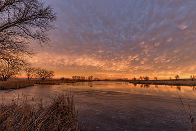 Photograph - Sunrise Reflections On Ice And Water by Tony Hake