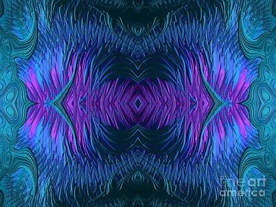 Digital Art - Sunrise Reflections On The Frosty Lake Fractal Abstract by Rose Santuci-Sofranko