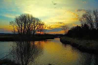Photograph - Sunrise River by Bonfire Photography