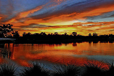 Photograph - Sunrise  Riverton by Tony Brown