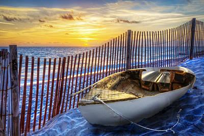 Sunrise Sail Art Print by Debra and Dave Vanderlaan