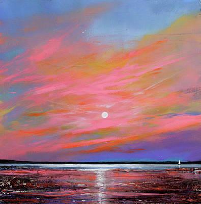 Sunrise Sail Art Print by Toni Grote