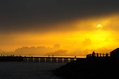 Art Print featuring the photograph Sunrise San Francisco by Steve Siri
