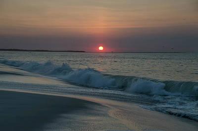 Seascape Photograph - Sunrise Seascape - Cape May by Bill Cannon