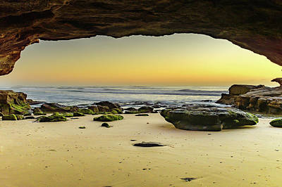 Firefighter Patents - Sunrise Seascape from Cave by Merrillie Redden