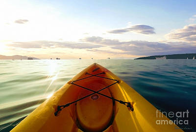 Photograph - Sunrise Seascape Kayak Adventure by Ricardos Creations