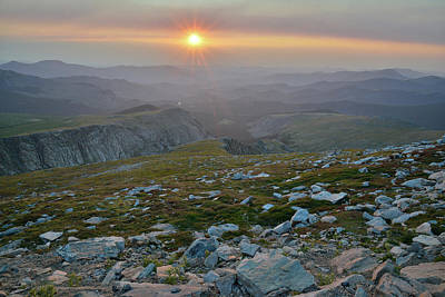 Photograph - Sunrise Seen From Mt. Evans Highway by Ray Mathis