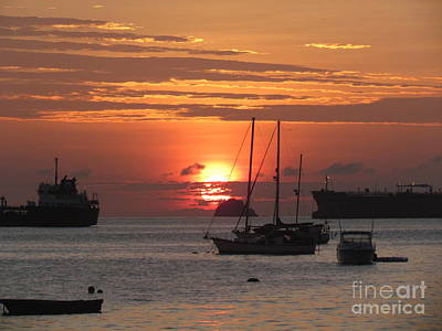 Photograph - Sunrise Ship Panama by Ted Pollard