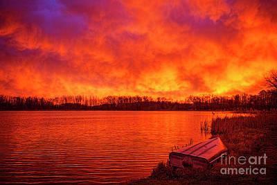 Photograph - Sunrise Shipshe Lake by David Arment
