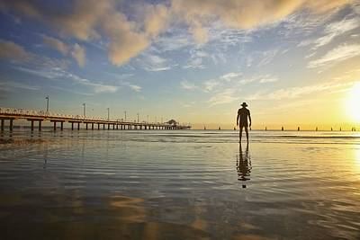Photograph - Sunrise Silhouette Down By The Pier. by Keiran Lusk
