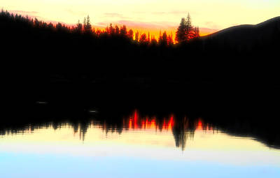 Photograph - Sunrise Silhouette Glow by Dan Sproul