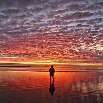 Photograph - Sunrise Silhouette by Keiran Lusk
