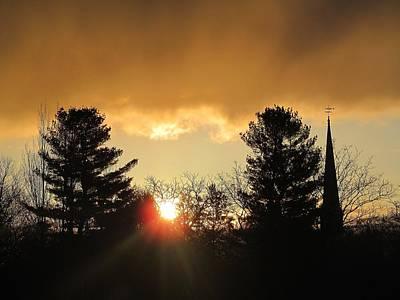 Photograph - Sunrise Silhouettes by Loretta Pokorny