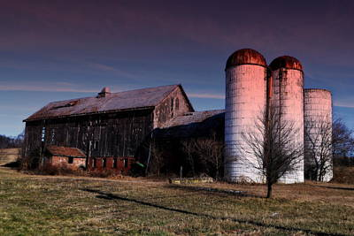 Sunrise Silos Art Print