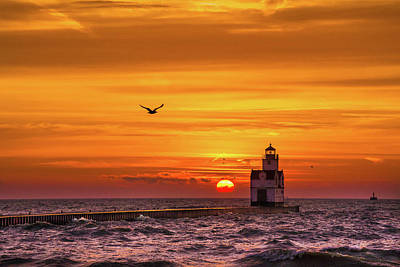 Print featuring the photograph Sunrise Solo by Bill Pevlor