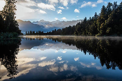 Photograph - Sunrise Spectacular At Lake Matheson. by Usha Peddamatham