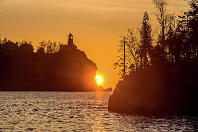 Photograph - Sunrise Split Rock State Park by Paul Freidlund