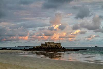Photograph - Sunrise, St Malo  by Shirley Mitchell