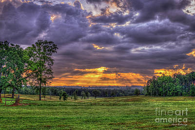 Photograph - Sunrise Stairways To Heaven Farmland Art by Reid Callaway