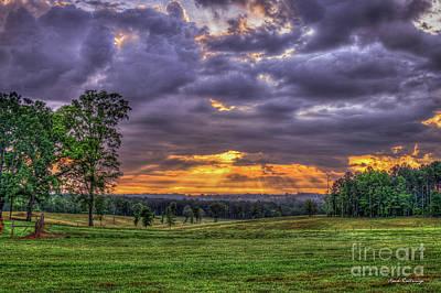 Richland Creek Photograph - Sunrise Stairways To Heaven Farmland Art by Reid Callaway