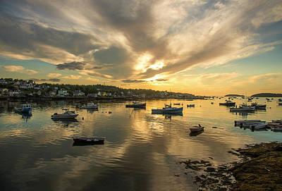 Photograph - Sunrise - Stonington, Maine by Gordon Ripley