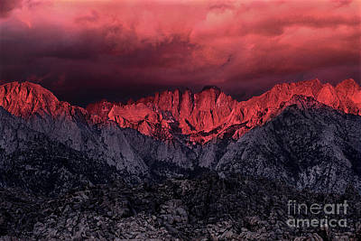 Photograph - Sunrise Storm Alabama Hills California by Dave Welling