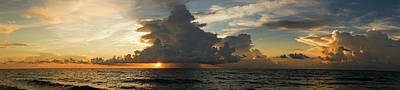 Photograph - Sunrise Storm Panorama 2 Delray Beach Florida by Lawrence S Richardson Jr