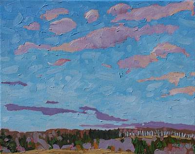 Watershed Painting - Sunrise Stratocumulus by Phil Chadwick