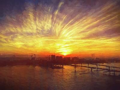 Photograph - Sunrise Streaks by Alice Gipson