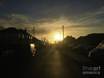 Digital Art - Sunrise Street by Andrew Middleton
