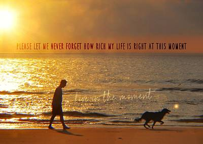 Photograph - Sunrise Stroll Quote by JAMART Photography