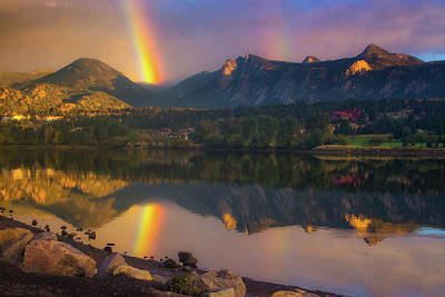 Photograph - Sunrise Summer Rainbow In Colorado by John De Bord