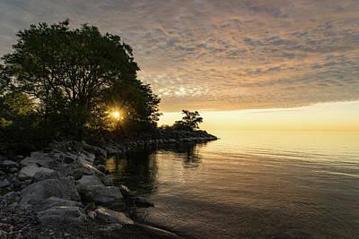 Photograph - Sunrise Sun Star - Fluffy Down And See-through Silk On The Lakeshore by Georgia Mizuleva