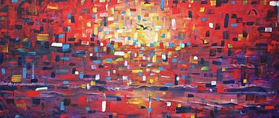 Deconstructed Painting - Sunrise, Sunset by Andres A Garcia-Velez