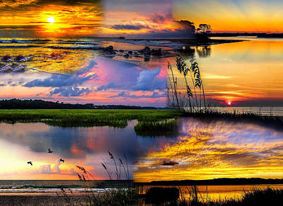 Photograph - Sunrise/sunset Collage 01 by Terry Shoemaker