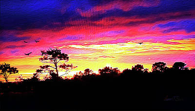 Digital Art - Sunrise Sunset Delight Or Warning by Robert J Sadler