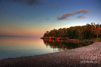 Sunrise Sunset On Lake Superior 1 Art Print