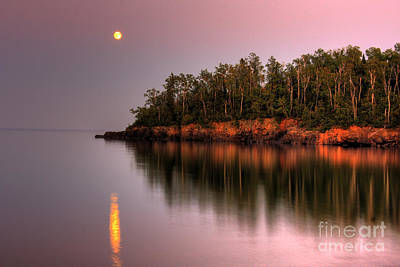 Ethereal - Sunrise Sunset on Lake Superior 2 by Wayne Moran