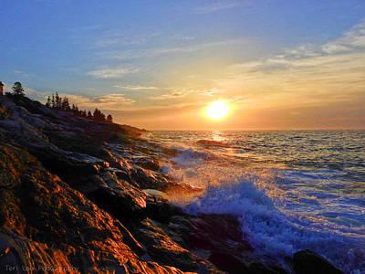 Photograph - Sunrise Surf by Teri Ridlon