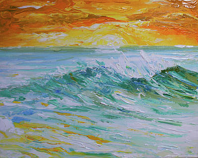 Painting - Sunrise Surf by William Love