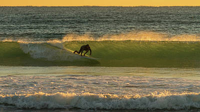 Photograph - Sunrise Surfer 2 Delray Beach Florida by Lawrence S Richardson Jr
