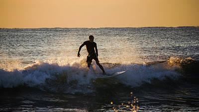 Photograph - Sunrise Surfer Delray Beach Florida by Lawrence S Richardson Jr